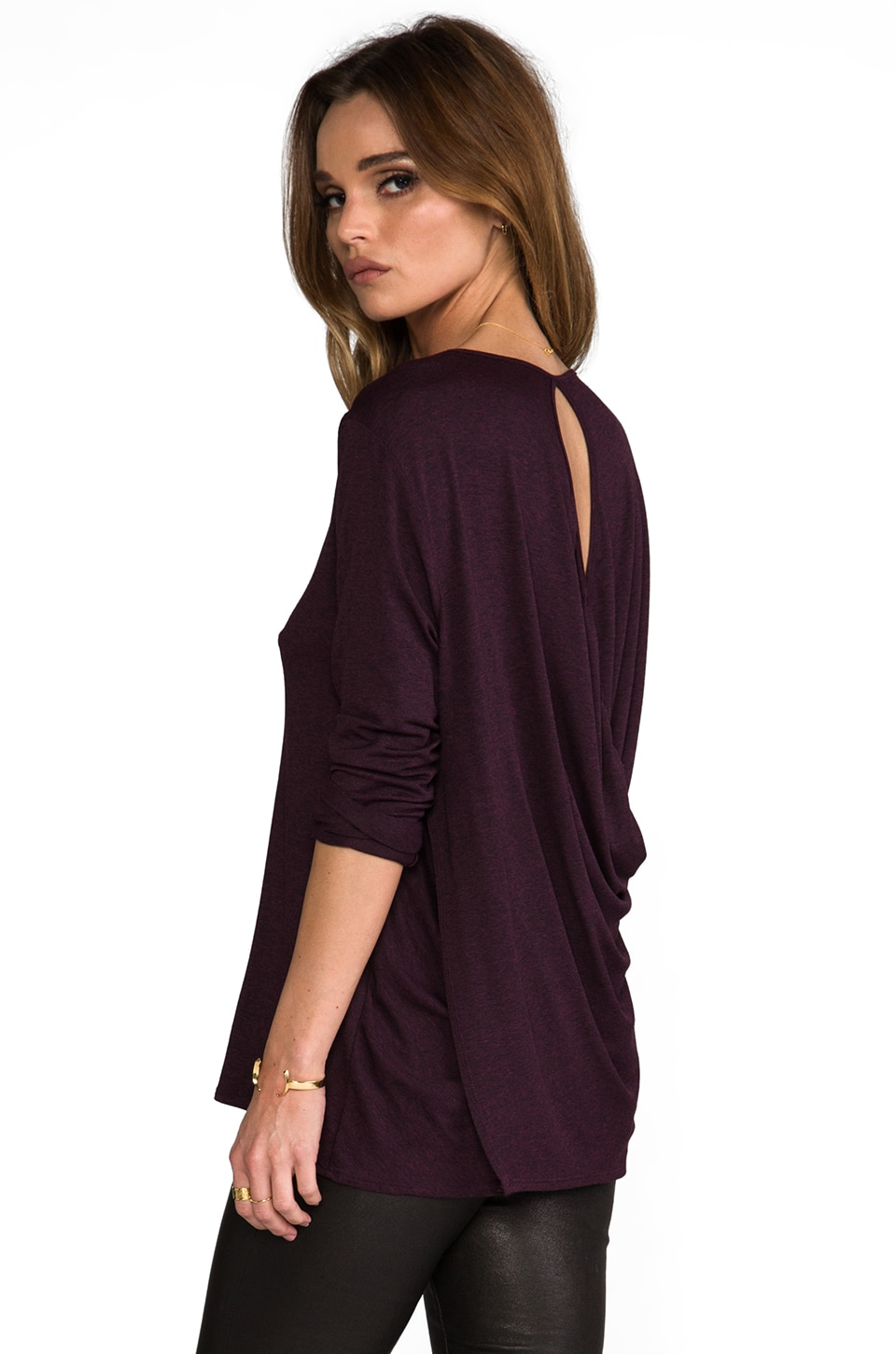 Riller & Fount Konrad Draped Open Back Top in Borgia