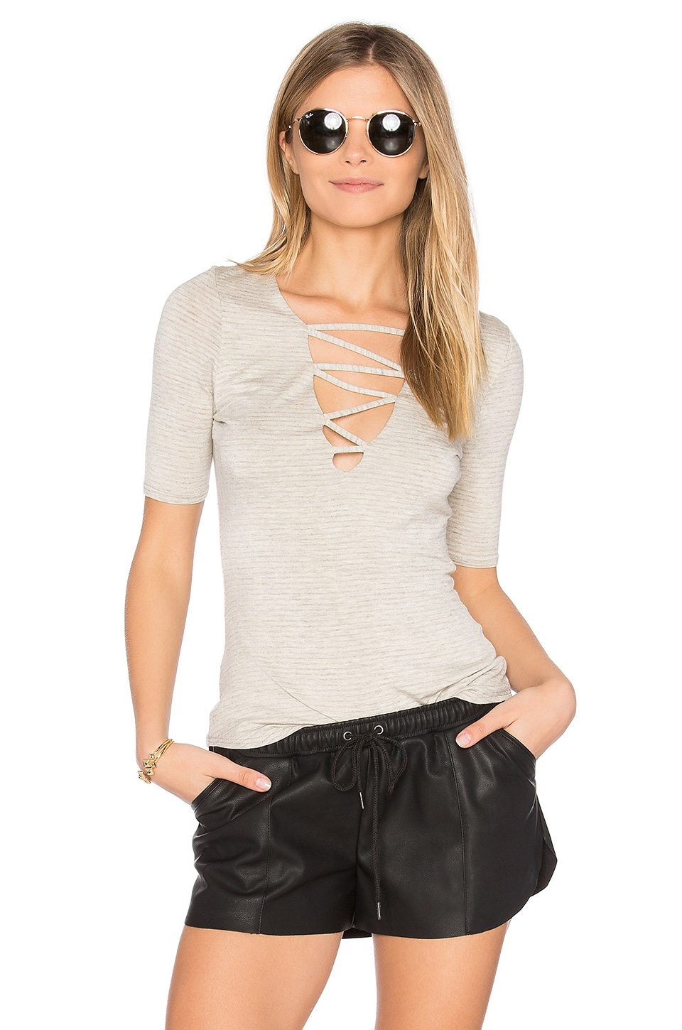 Riller & Fount Bobbie Criss Cross Top in Honeycomb