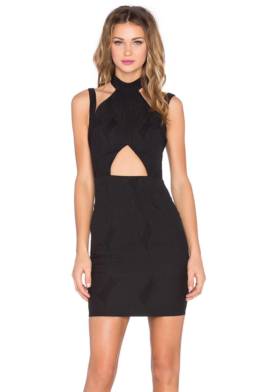 RISE Dark Lust Mini Dress in Black