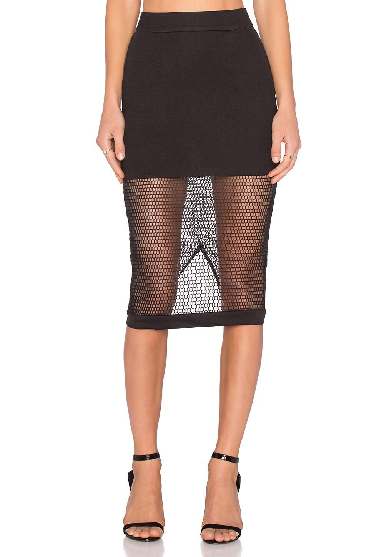 Burning Desire Mesh Midi Skirt at REVOLVE