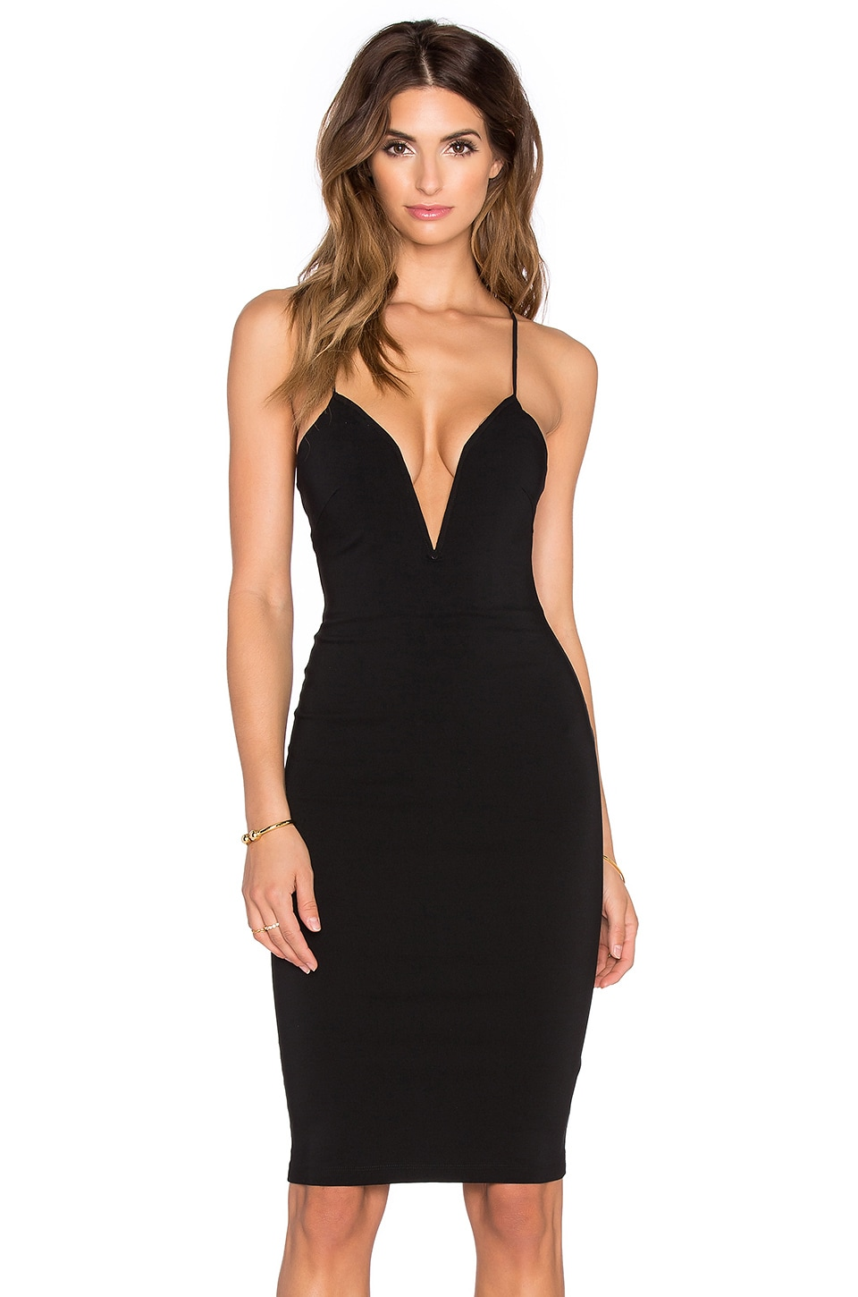 RISE OF DAWN Sass Midi Dress in Black
