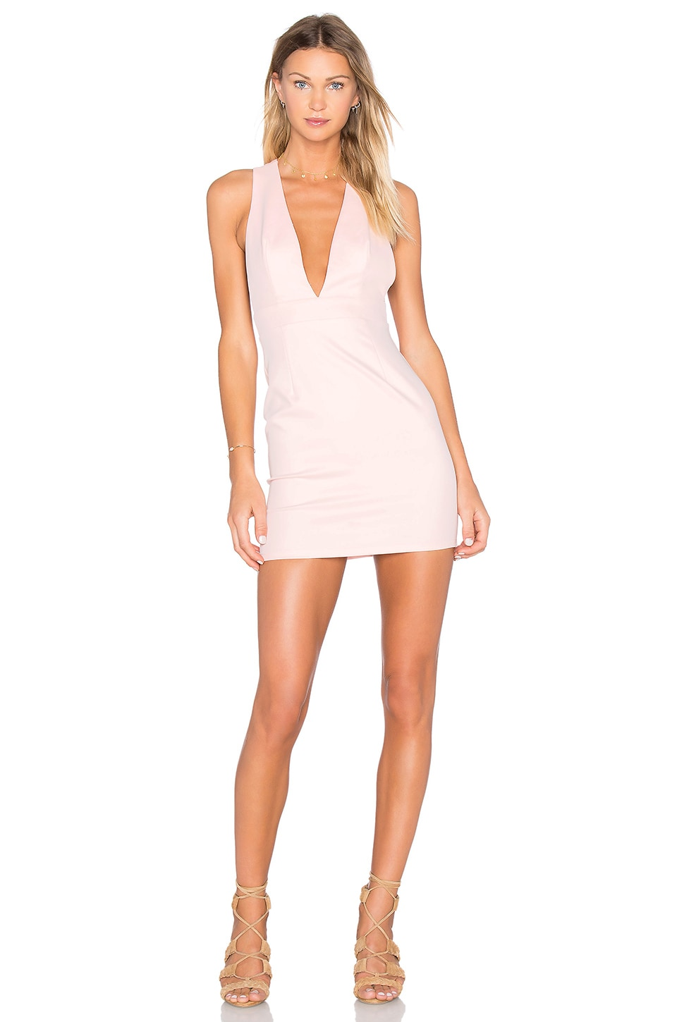 RISE OF DAWN Not This Time Dress in Blush