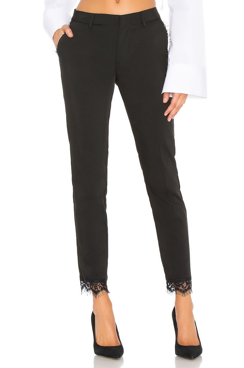 Reiko Lizzy Lace Pant in Black