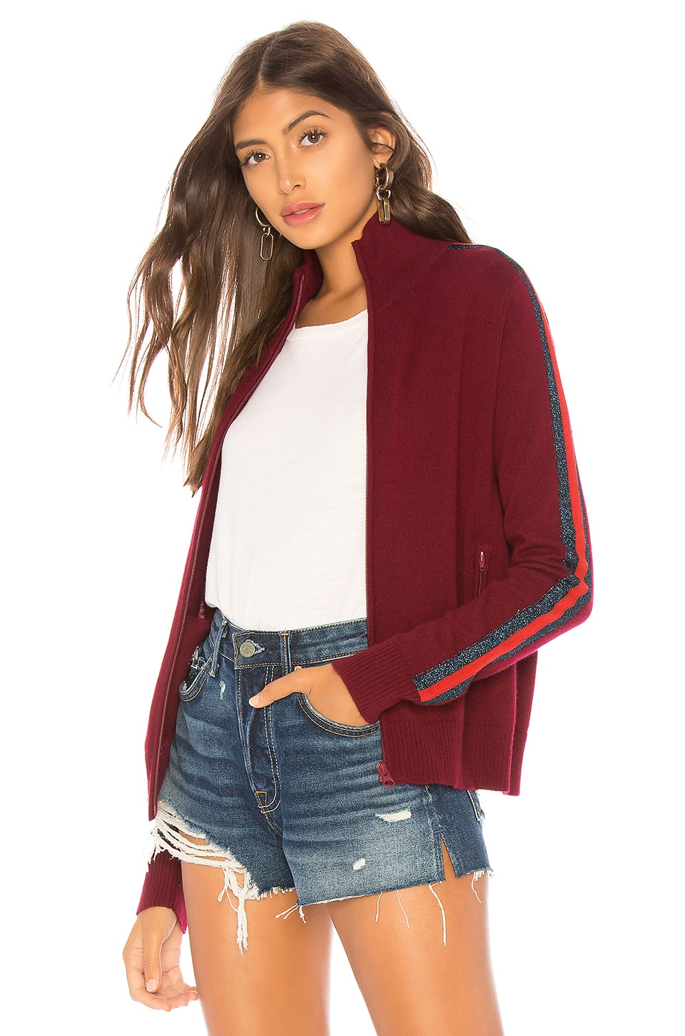 REPLICA LOS ANGELES Cashmere Track Jacket in Wine