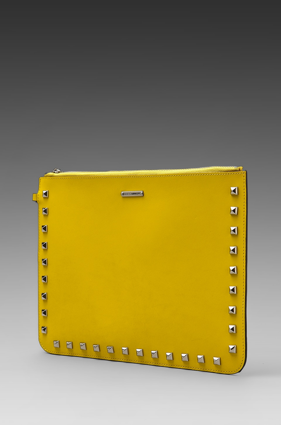 Rebecca Minkoff Lissa Pouch with Studs in Sunny/Natural