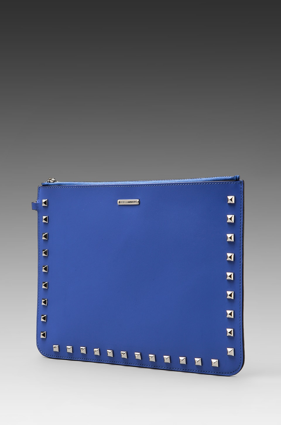 Rebecca Minkoff Lissa Pouch with Studs in Periwinkle/Petal Pink
