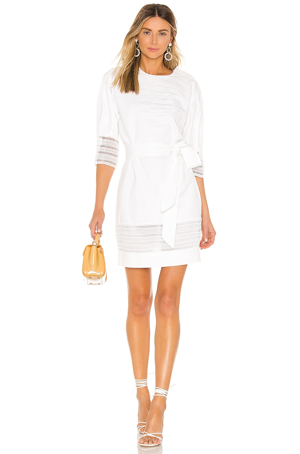 Rebecca Minkoff Georgina Dress in Bright White