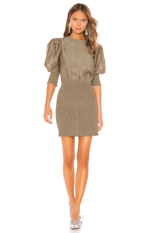 Rebecca Minkoff Geneva Dress in Army Green