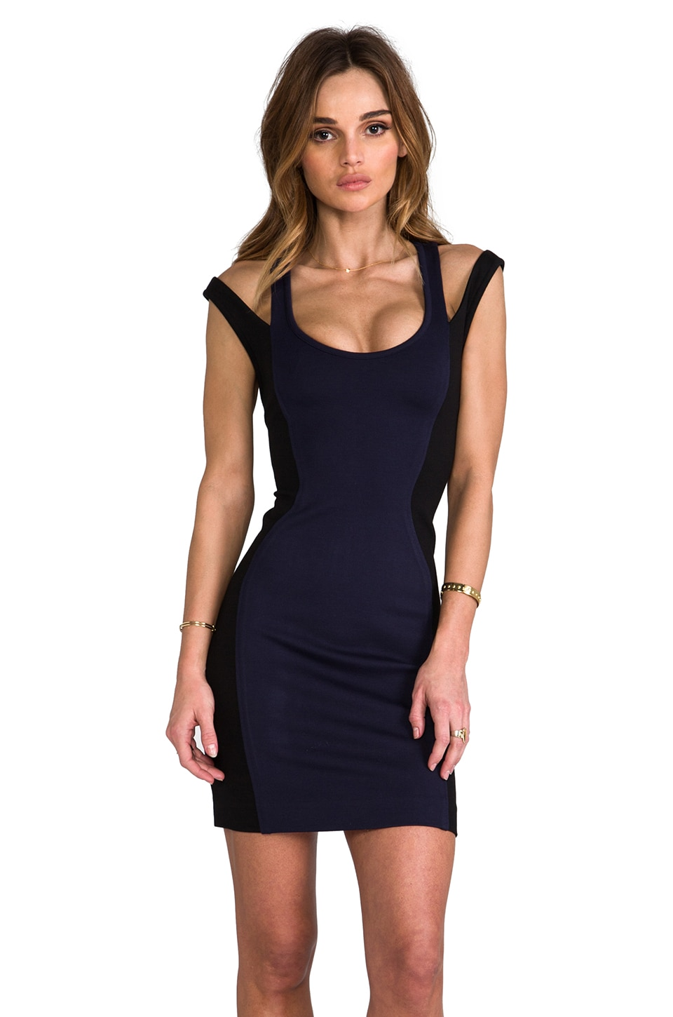 Rebecca Minkoff Saturday Dress en Navy/Black Combo