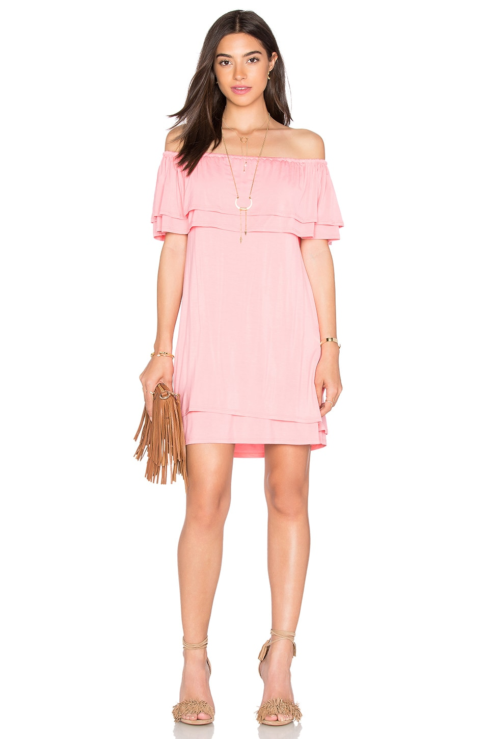 Rebecca Minkoff 39 Deva 39 Tiered Off The Shoulder Dress