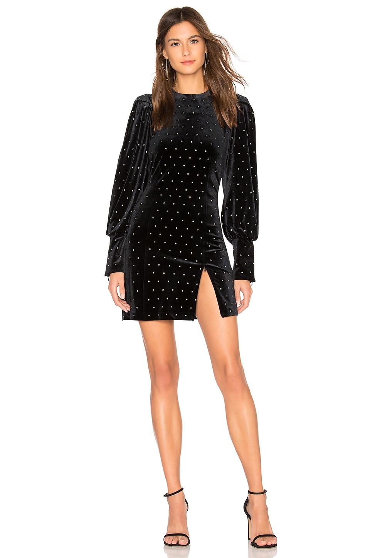 Rebecca Minkoff Gwen Velvet Dress in Black
