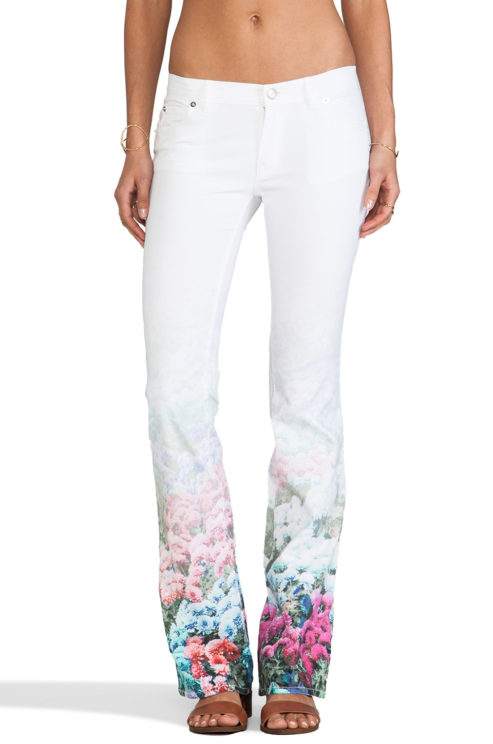 Rebecca Minkoff Skinny Boot in Oasis Photo Floral