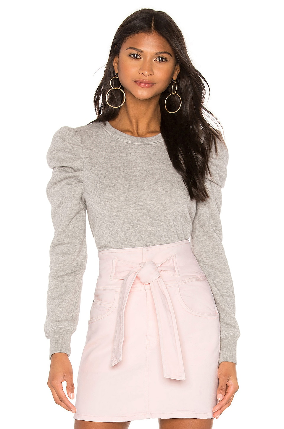 Rebecca Minkoff Janine Sweatshirt in Heather Grey