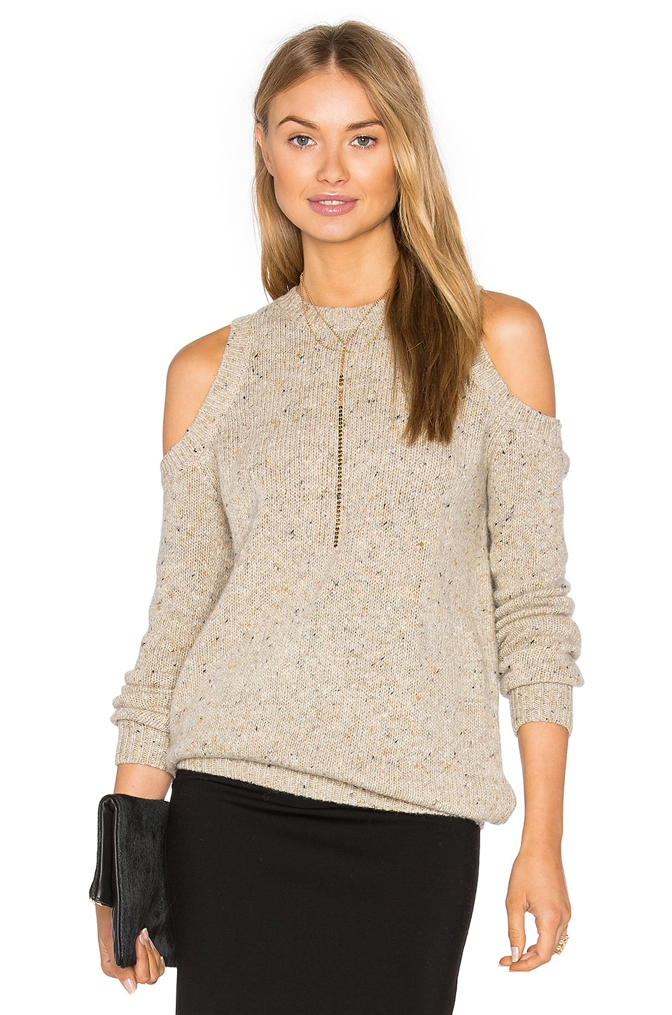 Rebecca Minkoff Chapter Sweater in Oatcake Multi