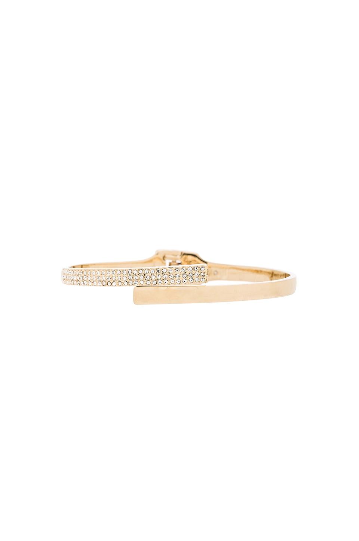 Rebecca Minkoff Pave Hinge Bracelet in Gold & Crystal