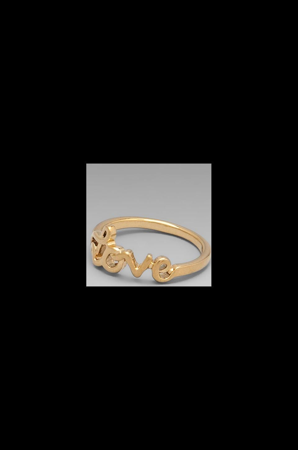 Rebecca Minkoff Love Ring in Gold