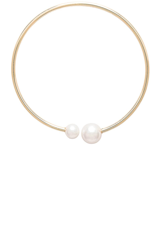 Rebecca Minkoff Pearl Collar Necklace in Gold & Pearl
