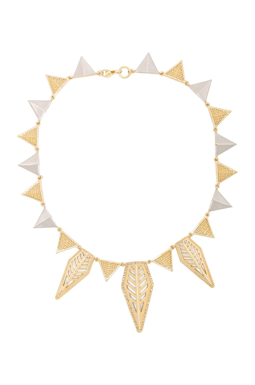 Rebecca Minkoff Open Blade Triangle Necklace in 14K Gold