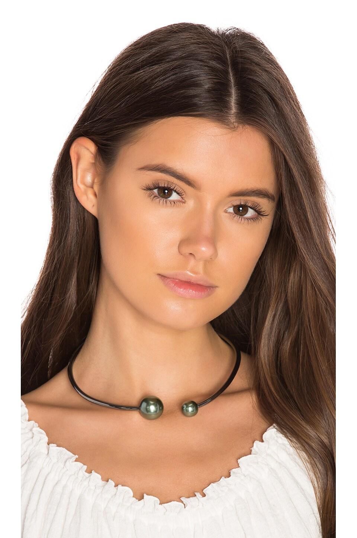 Rebecca Minkoff Pearl Collar in Gunmetal & Pearl