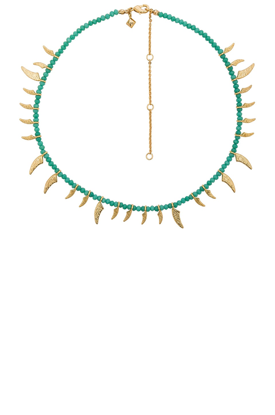 Tiki Beaded Spike Necklace by Rebecca Minkoff
