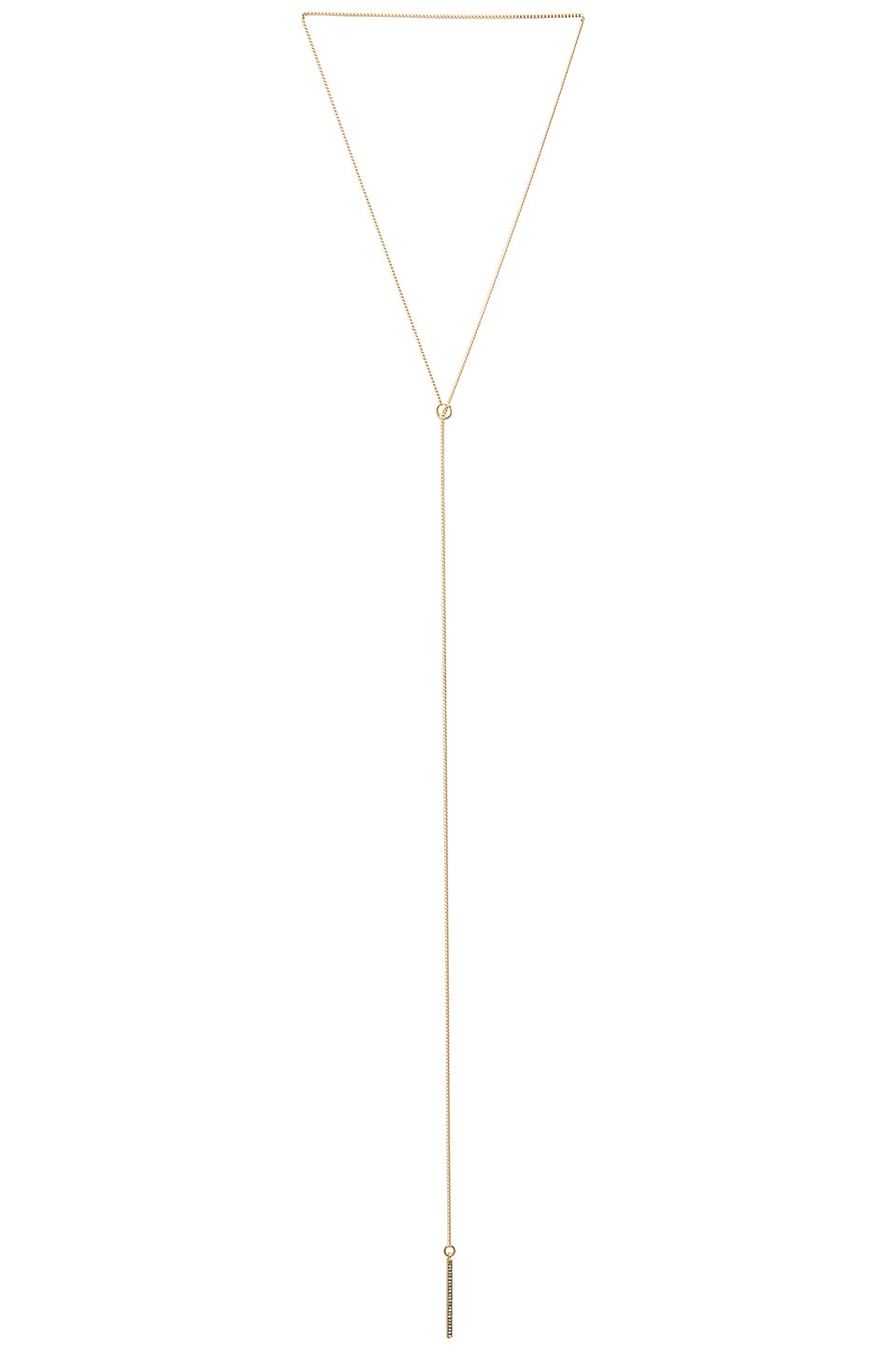 Rebecca Minkoff Bar Lariat Necklace in Gold