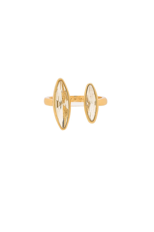 Rebecca Minkoff Sparkler U Ring in Gold & Crystal