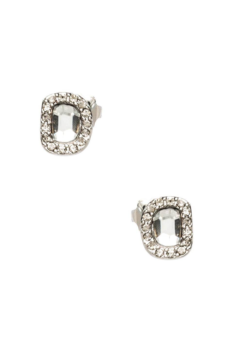 Rebecca Minkoff Mirror Stud Earrings in Rhodium