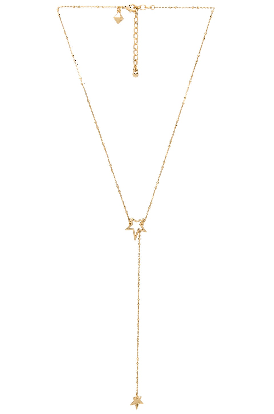 Rebecca Minkoff Rock Star Lariat Necklace in Gold