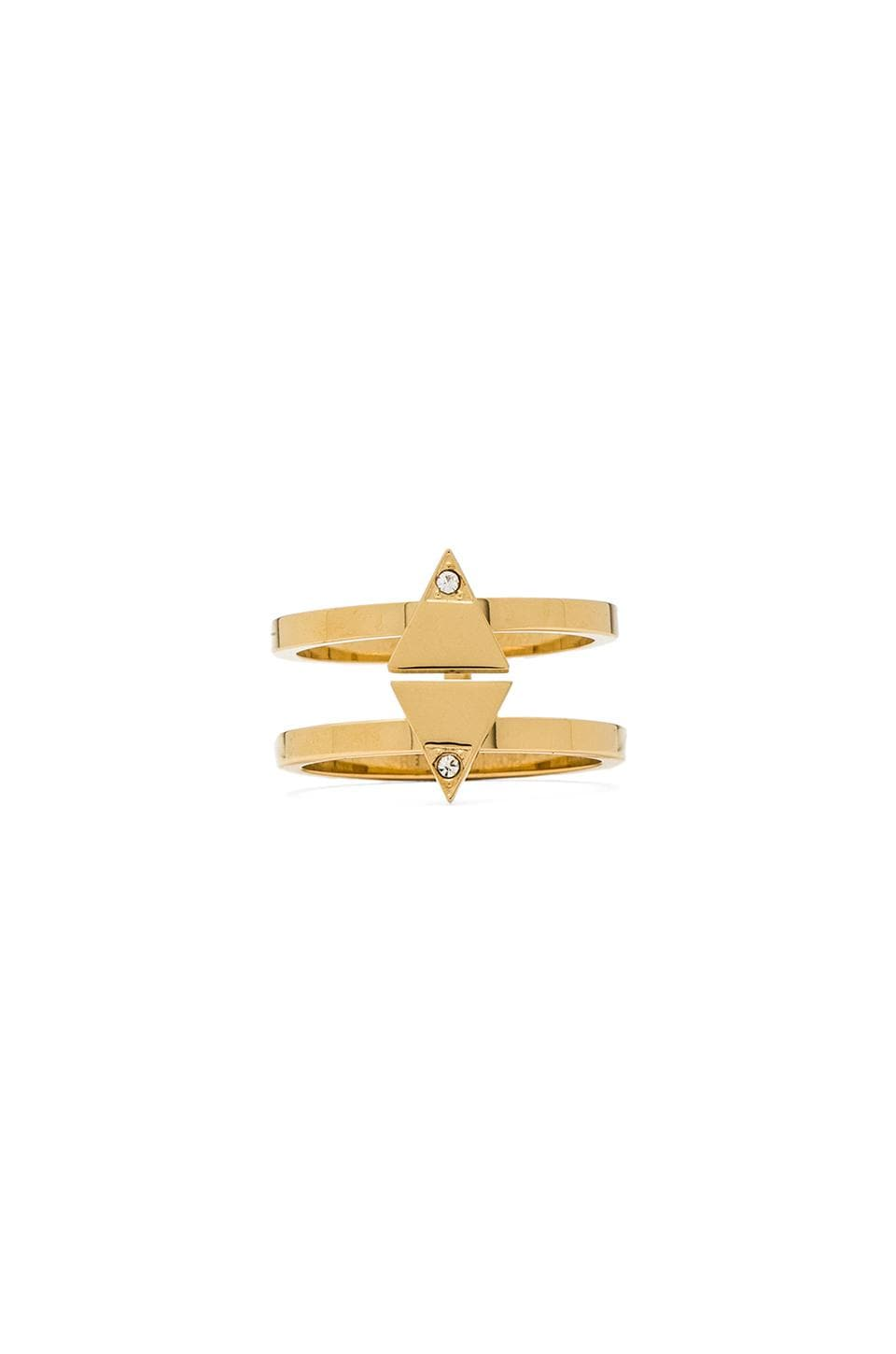 Rebecca Minkoff Diamond Ring in 14 KT Gold Plate