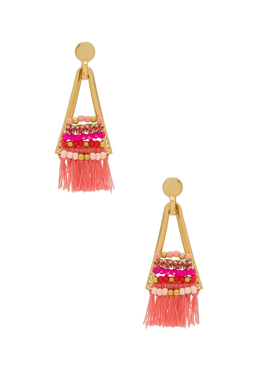 Rebecca Minkoff Goe Tassel Chandeliers With Beading in Pink Multi