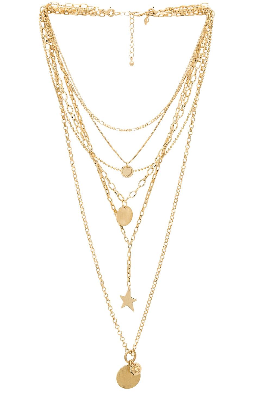 Rebecca Minkoff Medallion Layered Statement Necklace in Gold