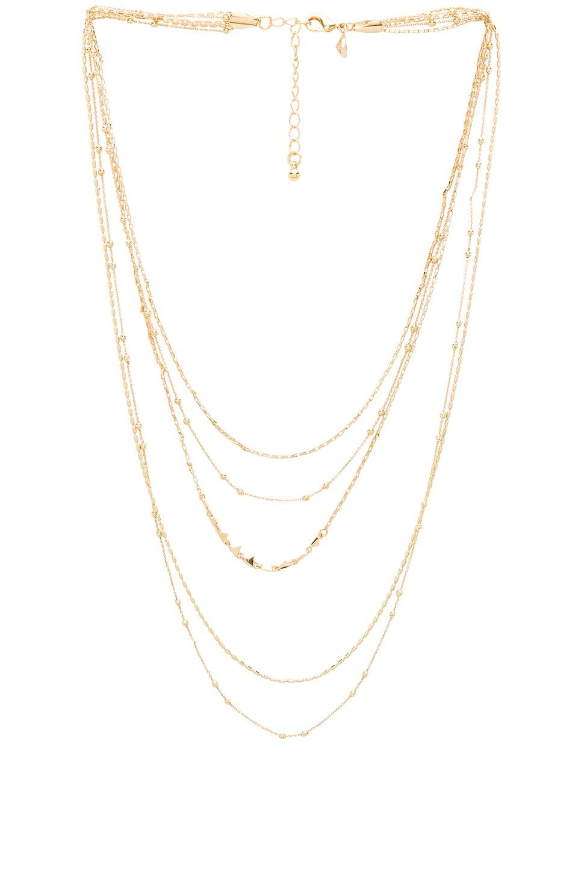 Rebecca Minkoff Ellie Triangle Necklace in Gold