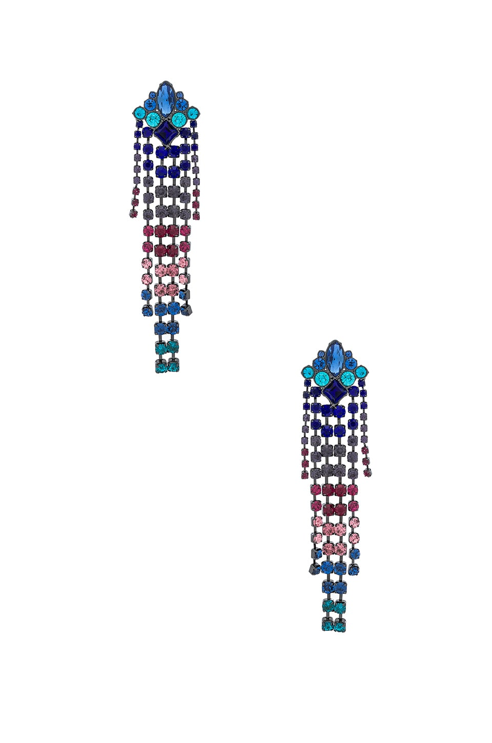 Gemma Crystal Fringe Earrings