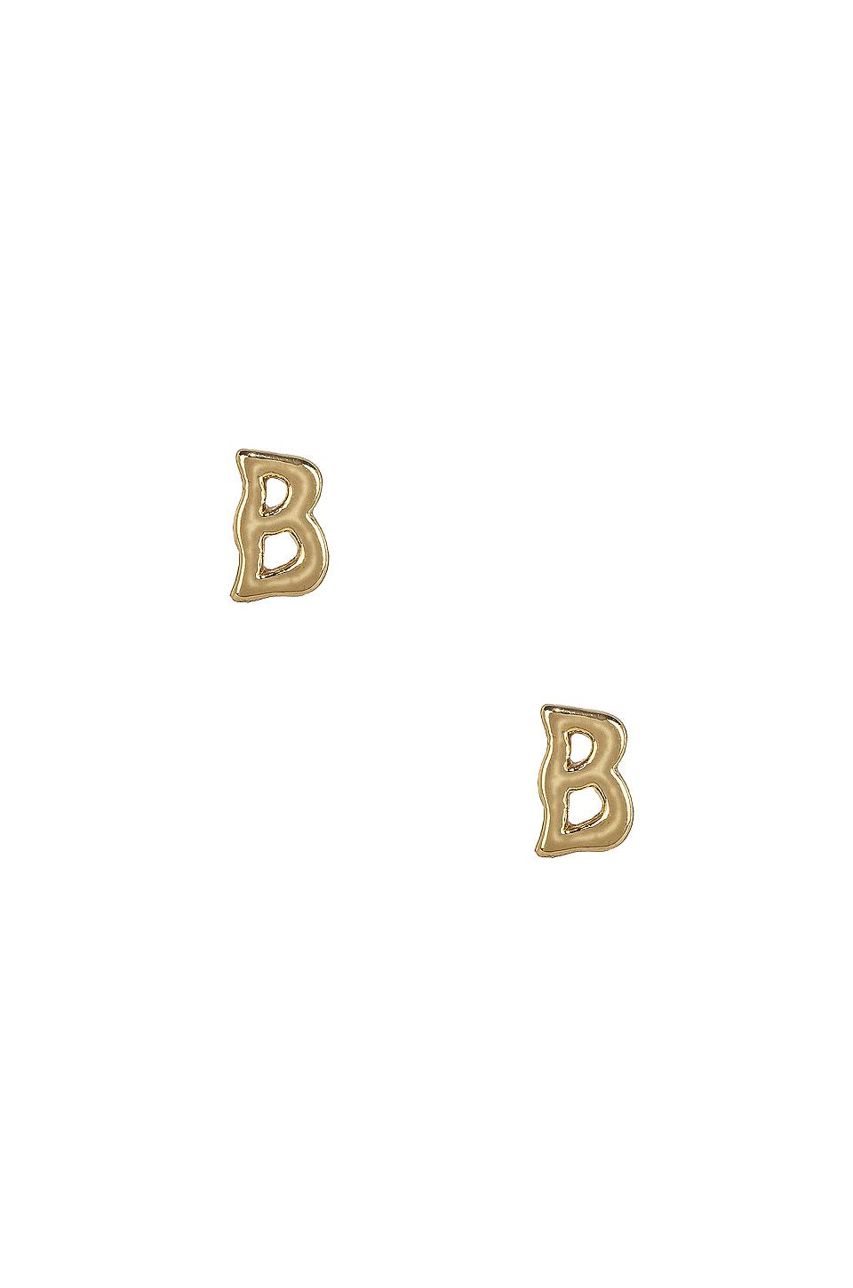 B Initial Stud Earrings
