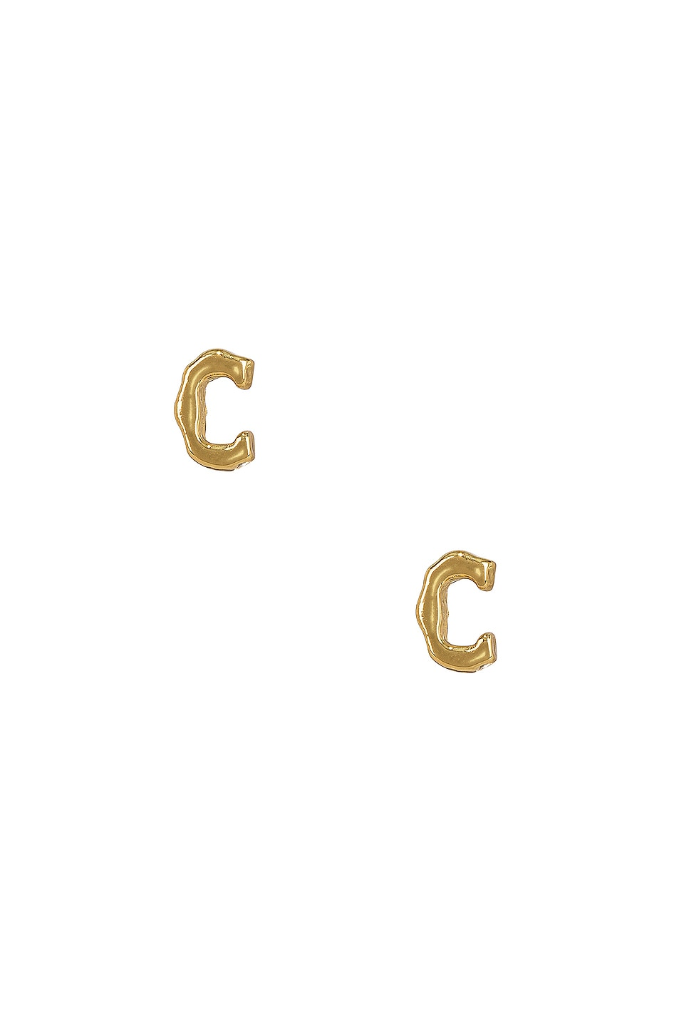 C Initial Stud Earrings
