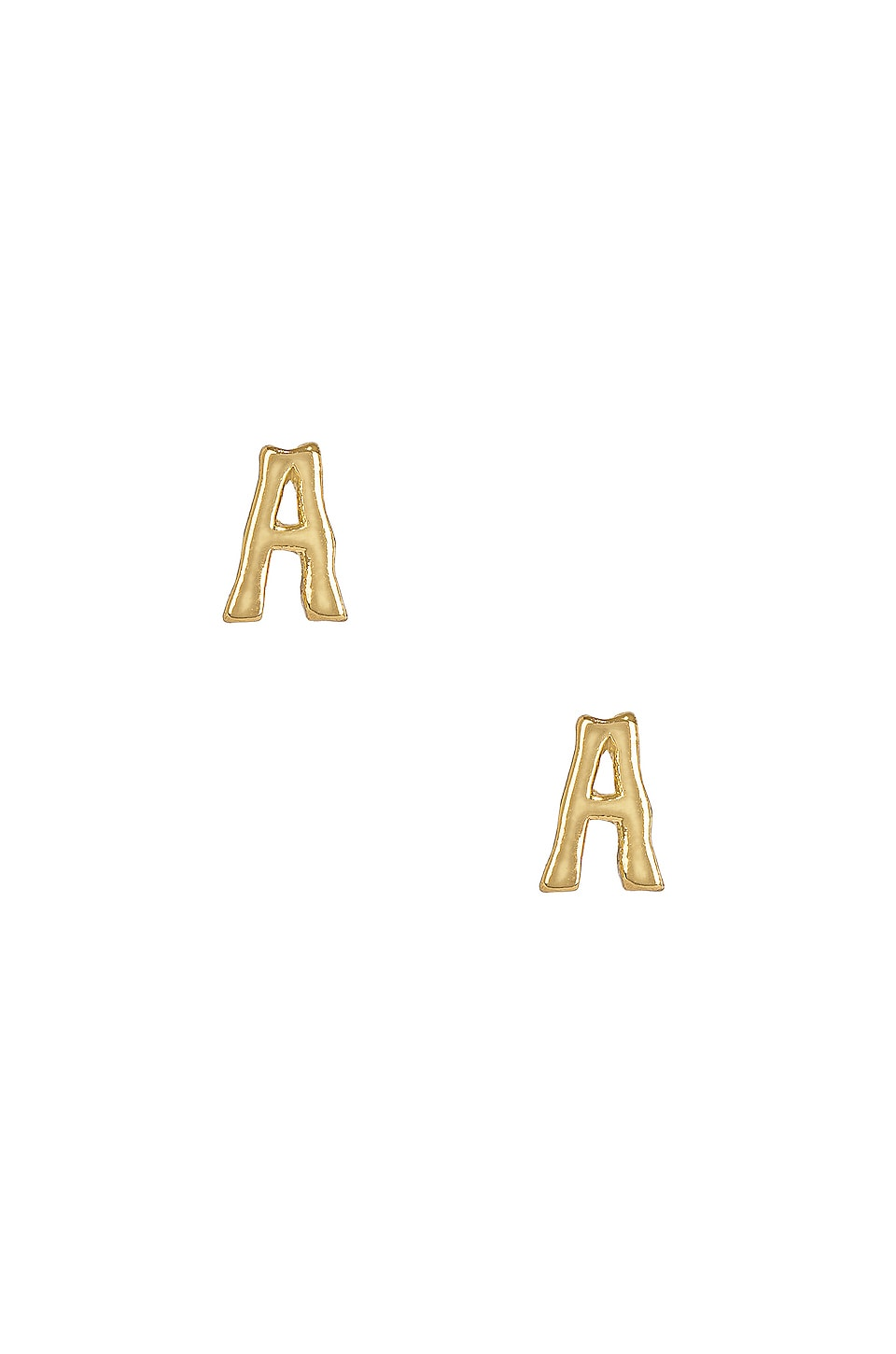 A Initial Stud Earrings