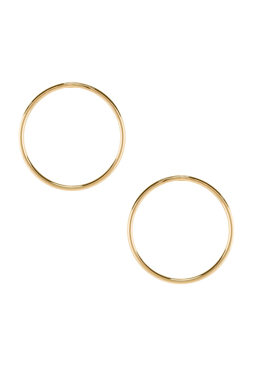 Rebecca Minkoff Tubular Frontal Hoops in Gold