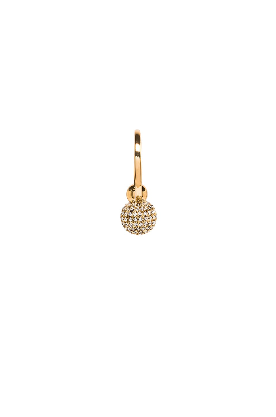 Pave Double Ball Ring