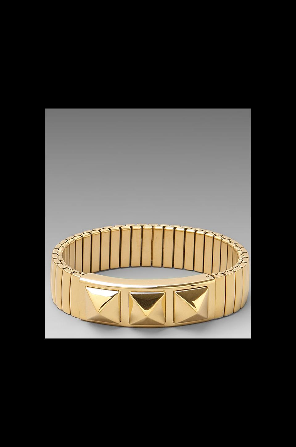 Rebecca Minkoff Studded Watch Band Bracelet in Gold
