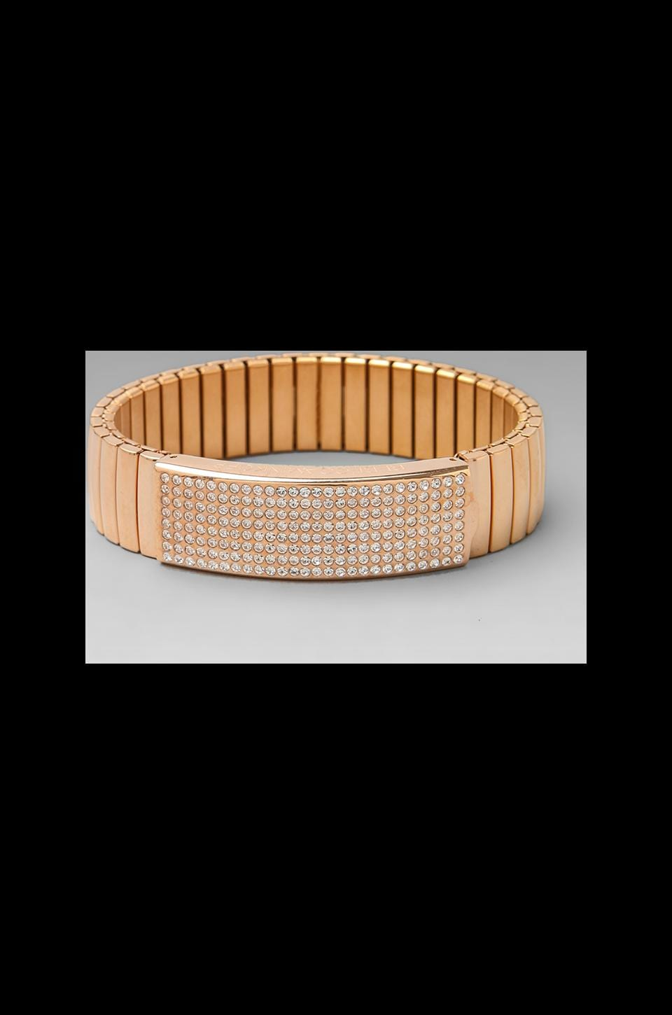 Rebecca Minkoff Pave Watch Band Bracelet in Rose Gold