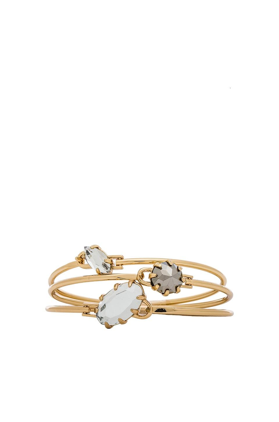 Rebecca Minkoff Starry Bangle Set in Gold, Mirror Crystal & Hematite