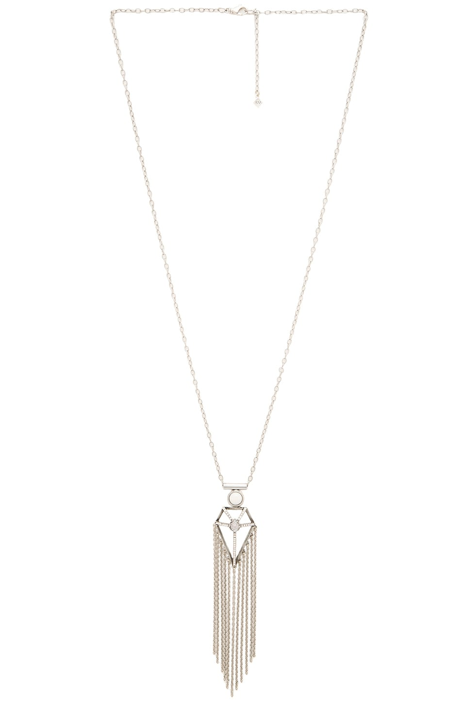 Rebecca Minkoff Boho Fringe Necklace in Silver
