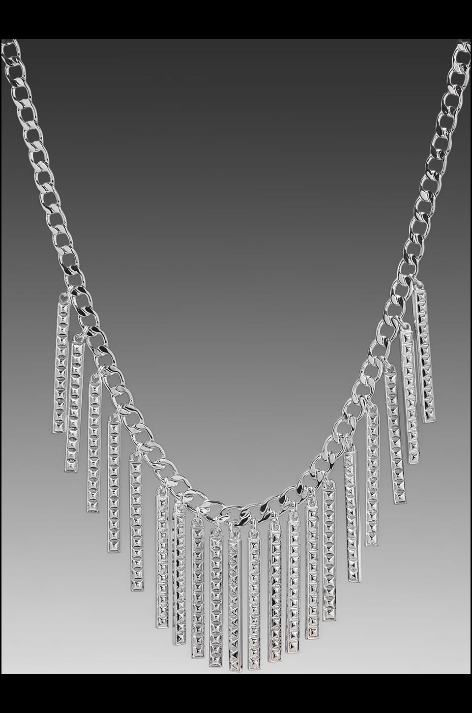 Rebecca Minkoff Id Collection Necklace in Silverstone