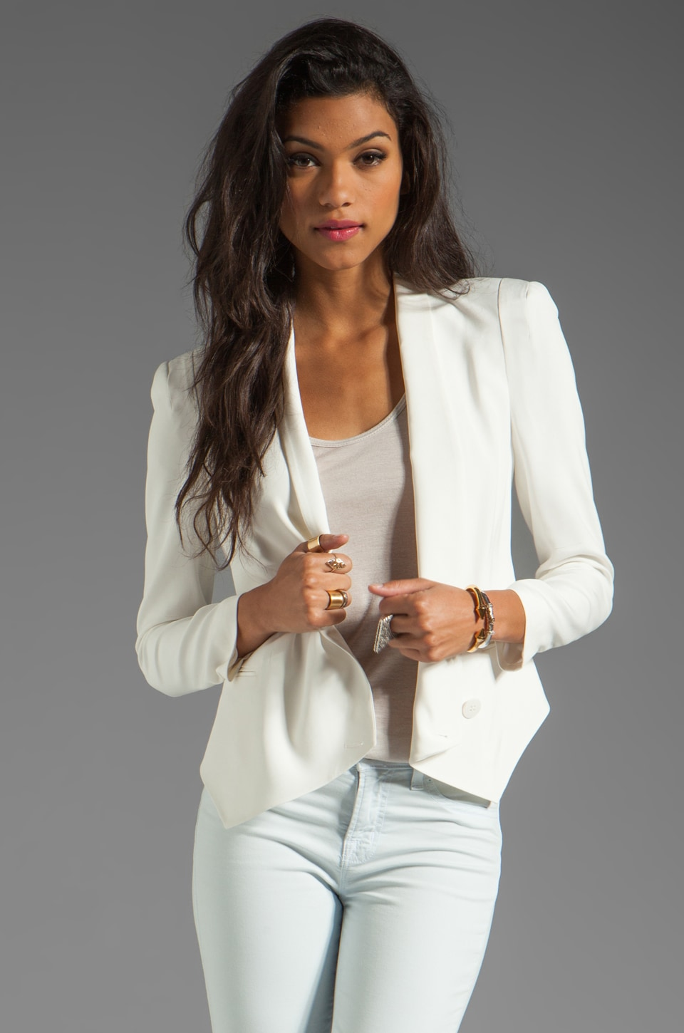 Rebecca Minkoff Becky Jacket in Chalk Ground