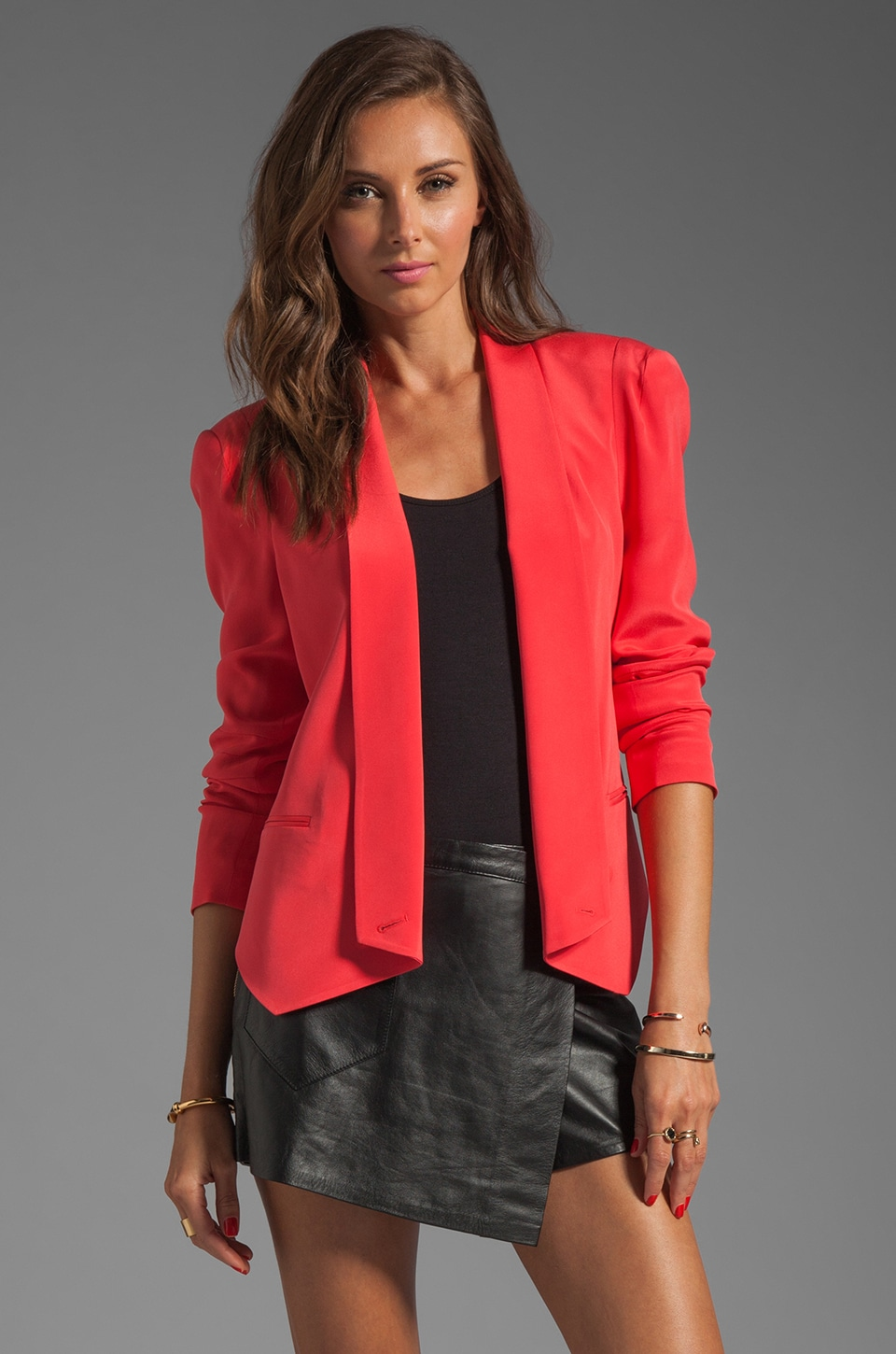 Rebecca Minkoff Becky Jacket in Mustang Red