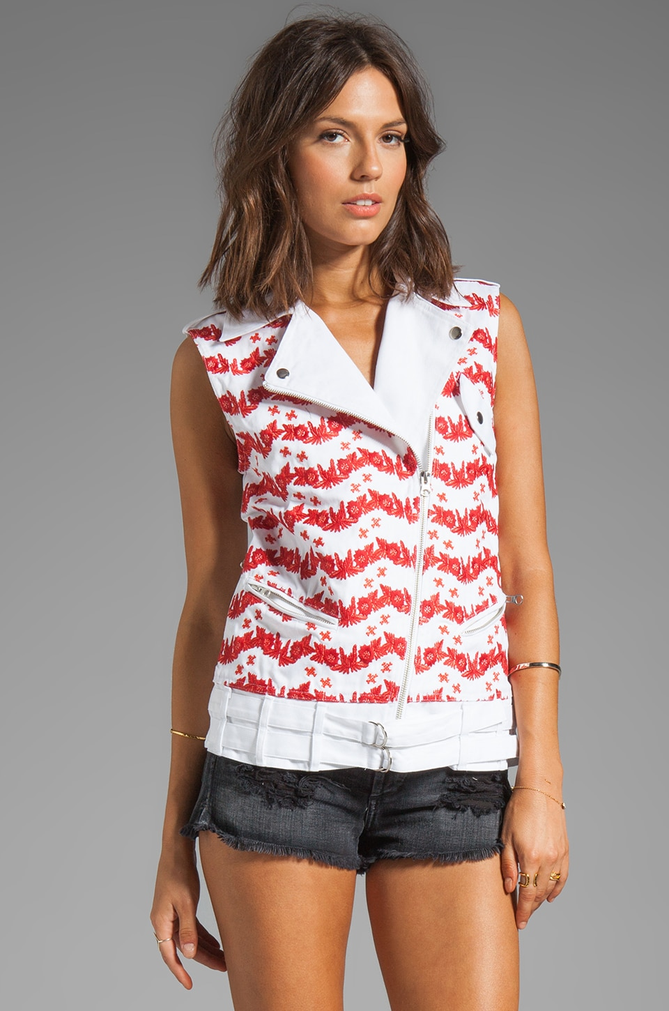 Rebecca Minkoff Jodi Vest in Burnt Orange