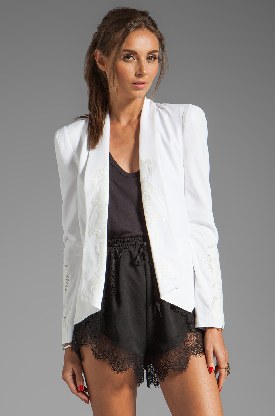 Rebecca Minkoff Becky Jacket in Chalk