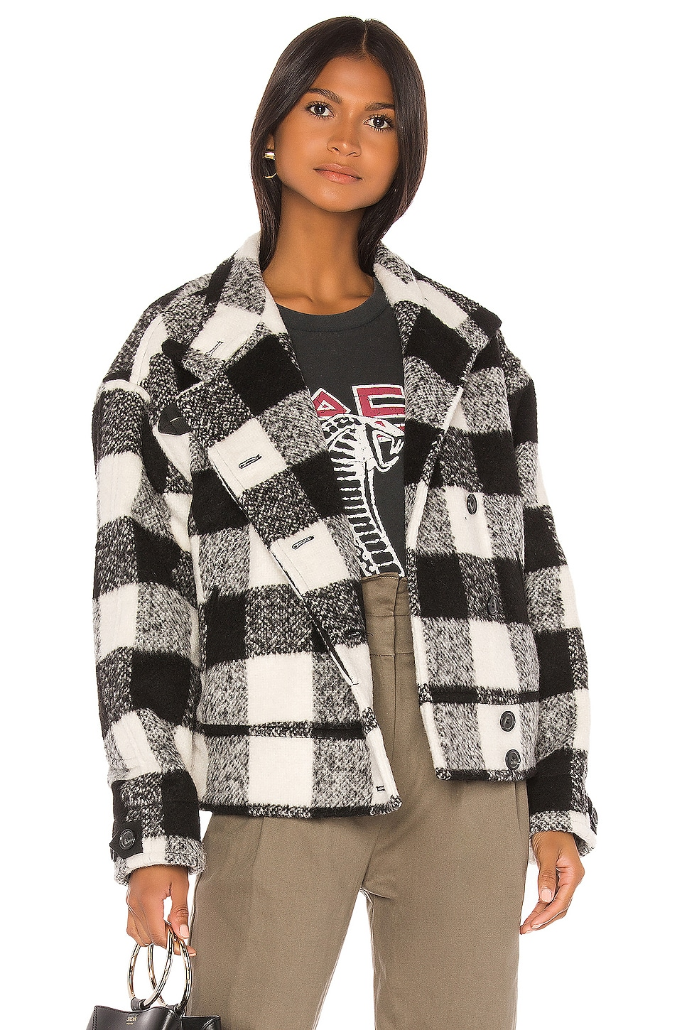 Rebecca Minkoff Allegra Jacket in Black Multi
