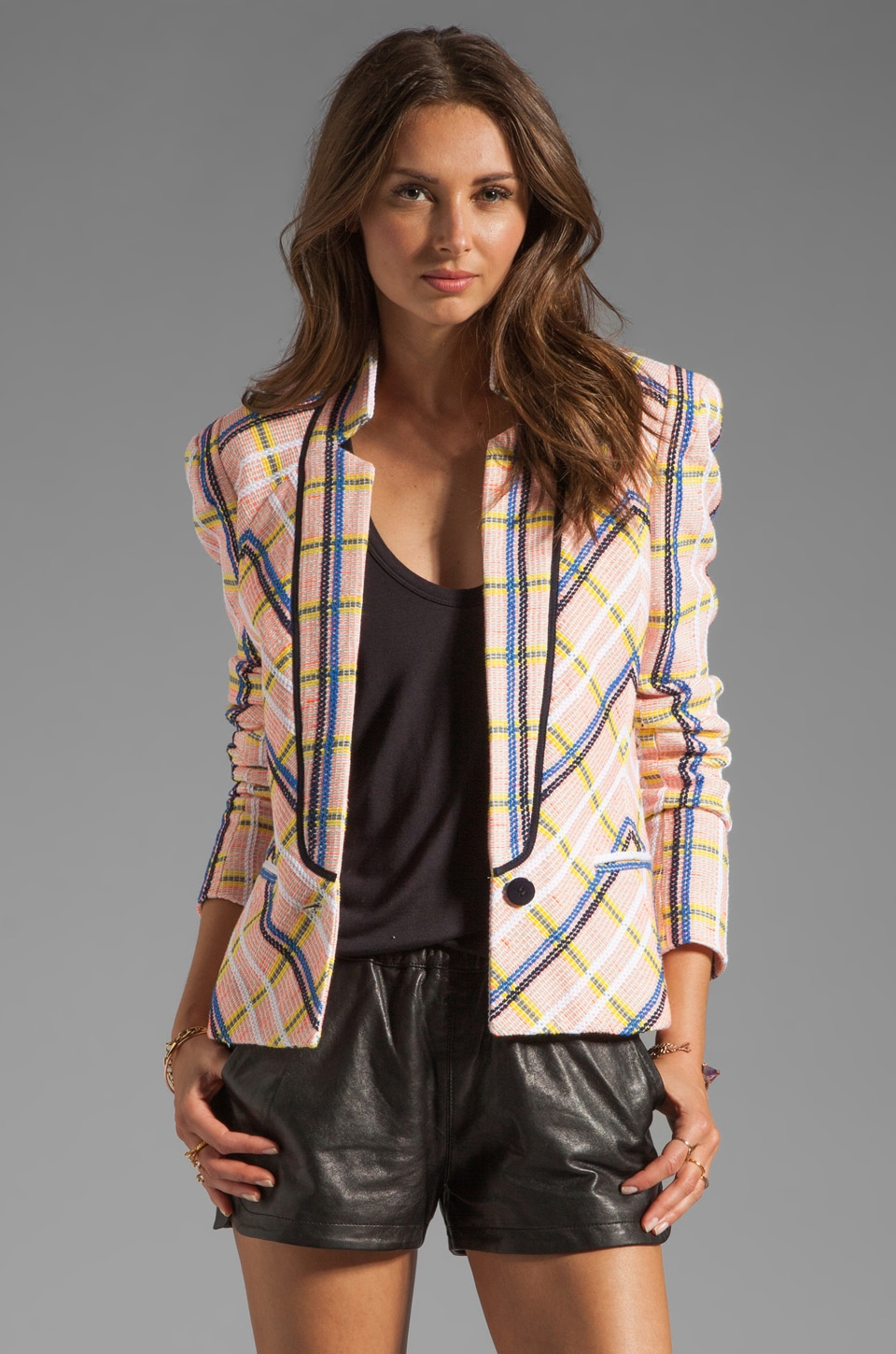 Rebecca Minkoff Haim Jacket in Rhubarb Multi
