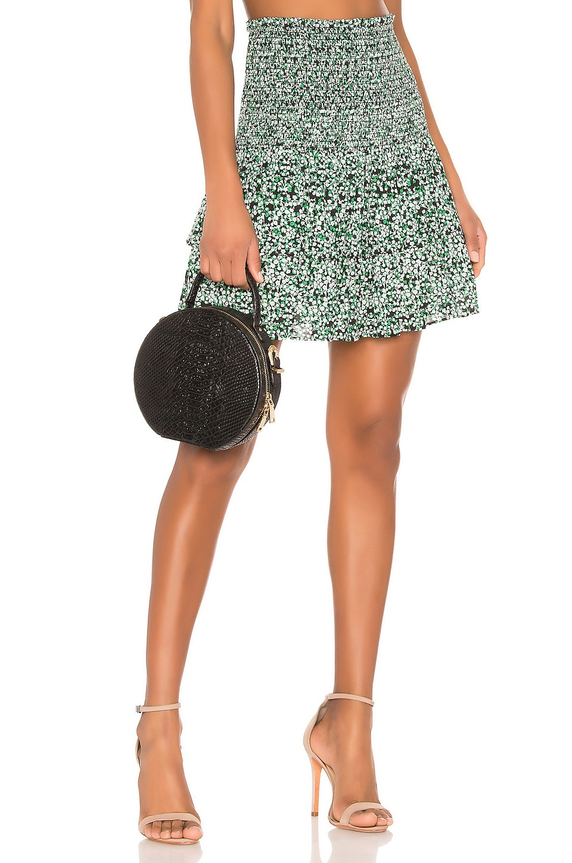 Rebecca Minkoff Amari Skirt in Green Multi